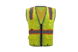 GSS Hype Lite Class 2 Safety Vest with Reflective Piping X Back 1601 Lime