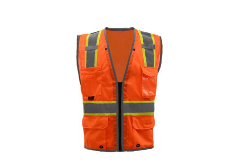GSS Hype Lite Class 2 Safety Vest with Reflective Piping X Back 1602 Orange