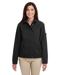 Harriton Ladies' Auxiliary Canvas Work Jacket M705W BLACK