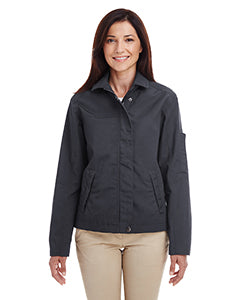 Harriton Ladies' Auxiliary Canvas Work Jacket M705W DARK CHARCOAL