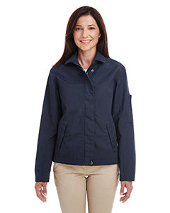 Harriton Ladies' Auxiliary Canvas Work Jacket M705W DARK NAVY