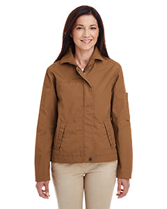Harriton Ladies' Auxiliary Canvas Work Jacket M705W DUCK BROWN
