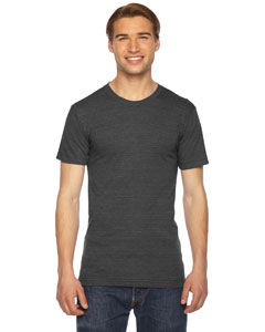 American Apparel Unisex Triblend Short-Sleeve Track T-Shirt TR401W TRI BLACK