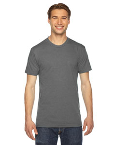 American Apparel Unisex Triblend Short-Sleeve Track T-Shirt TR401W ATHLETIC GREY
