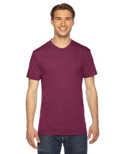 American Apparel Unisex Triblend Short-Sleeve Track T-Shirt TR401W TRI CRANBERRY
