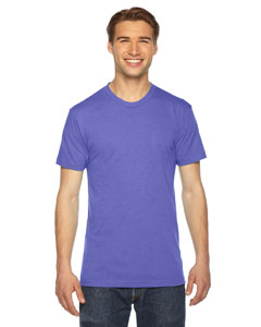 American Apparel Unisex Triblend Short-Sleeve Track T-Shirt TR401W TRI ORCHID
