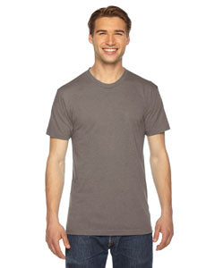 American Apparel Unisex Triblend Short-Sleeve Track T-Shirt TR401W TRI COFFEE