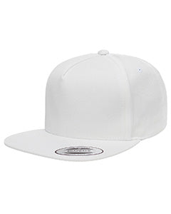 Yupoong Adult 5-Panel Cotton Twill Snapback Cap Y6007 WHITE