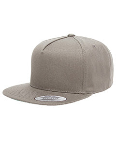 Yupoong Adult 5-Panel Cotton Twill Snapback Cap Y6007 GREY