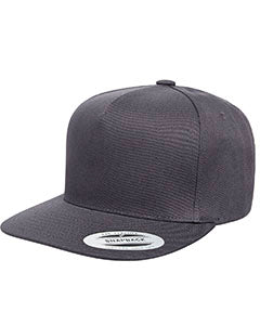 Yupoong Adult 5-Panel Cotton Twill Snapback Cap Y6007 DARK GREY