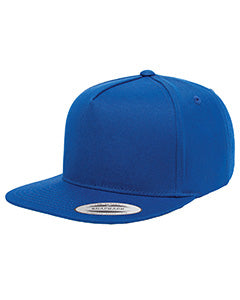 Yupoong Adult 5-Panel Cotton Twill Snapback Cap Y6007 ROYAL