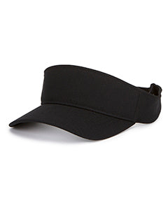 Yupoong Adult Cool & Dry Visor Y8110 BLACK