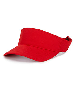 Yupoong Adult Cool & Dry Visor Y8110 RED
