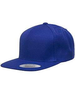 Yupoong Adult 5-Panel Structured Flat Visor Classic Snapback Cap YP5089 ROYAL