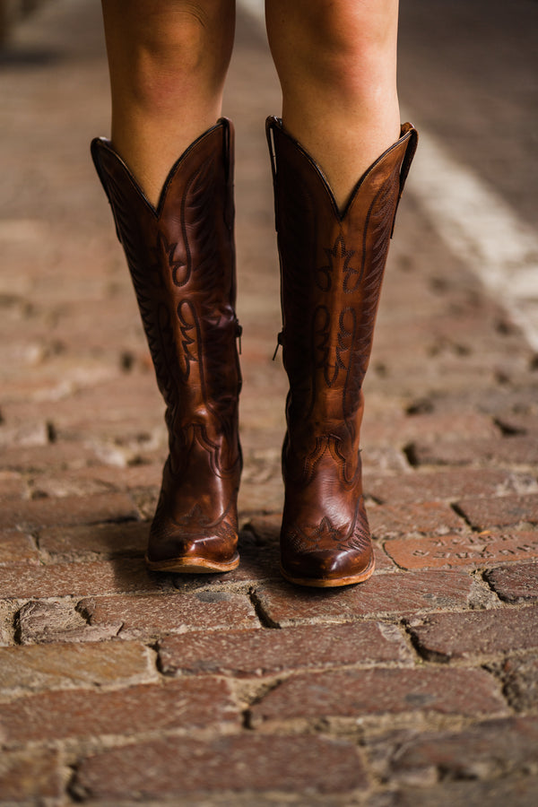 Brown Stitched Boots