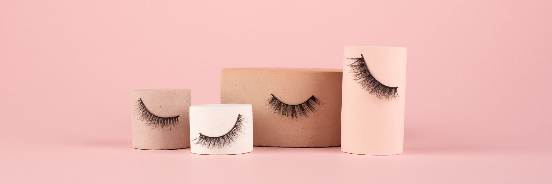wing it luxury vegan silk system lashes on props