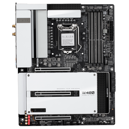Gigabyte W480 Vision W All in One LGA1200 Motherboard-Motherboard-Availability_In Stock, Brand_Gigabyte, Platform_Intel, Series_W480, Socket_LGA 1200, Supplier3-Gear Here