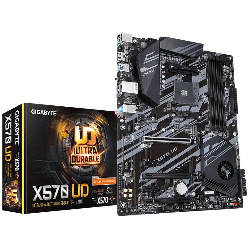 Gigabyte X570 UD Motherboard-Motherboard-Availability_In Stock, Brand_Gigabyte, Platform_AMD, Series_X570, Socket_AM4, Supplier3-Gear Here