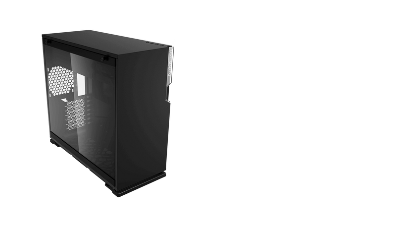InWin ci698 101 mid tower chassis Black/White with tool-less full-sized tempered glass side panel-PC Cases-Availability_In Stock, Brand_InWin, Form Factor_Mid Tower-Gear Here