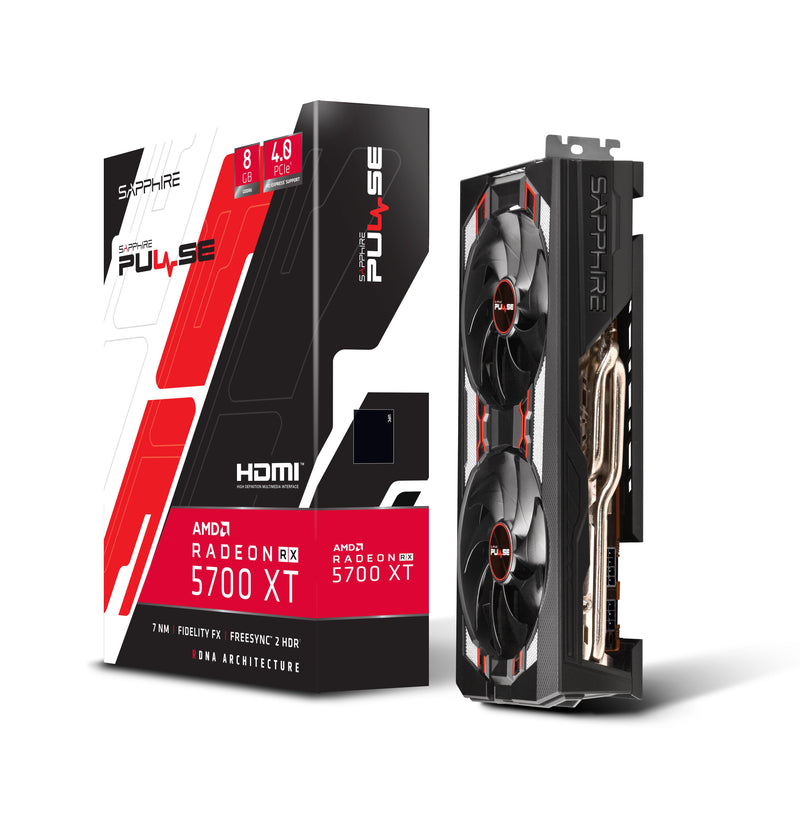 Sapphire PULSE RX 5700 XT 8G GDDR6-Graphics Cards-Availability_Out of stock, Brand_Sapphire, Platform_AMD, Series_RX 5000-Gear Here