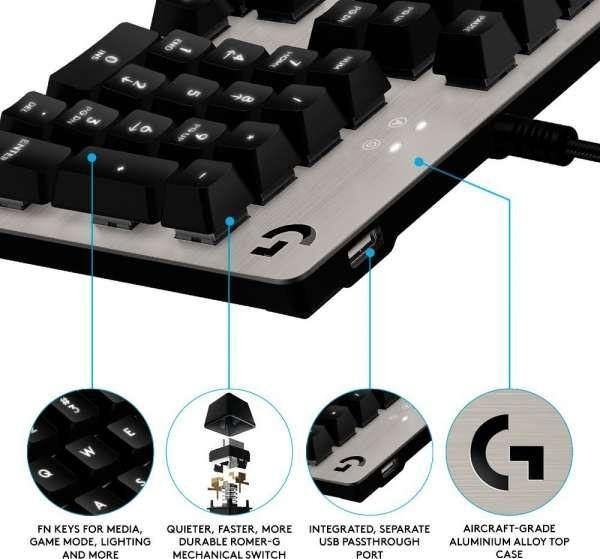Logitech G413 BACKLIT MECHANICAL GAMING KEYBOARD-Keyboards-Availability_In Stock, Brand_Logitech, Connectivity_Wired, Type_Keyboard-Gear Here