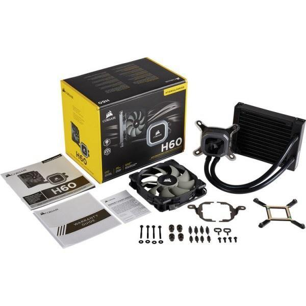 Corsair Hydro Series H60 120mm Liquid CPU Cooler-CPU Cooler-Availability_In Stock, Brand_Corsair, Cooling Type_Liquid-Gear Here