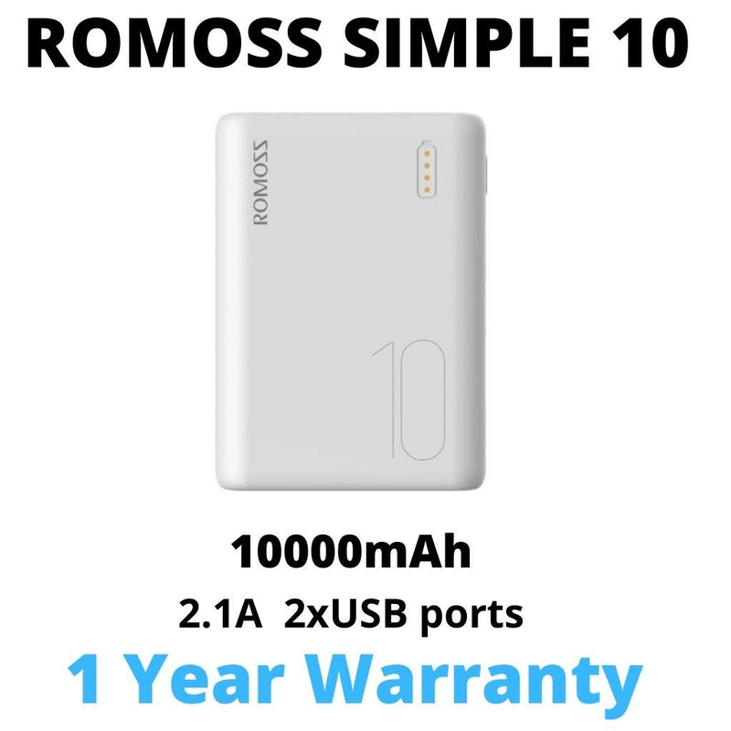 ROMOSS SIMPLE 10 10000MAH-Power Bank-Availability_In Stock, Power Bank-Gear Here