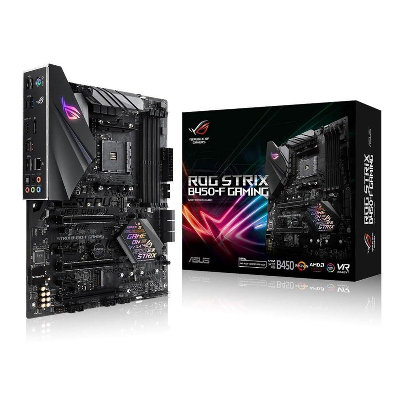 ASUS ROG STRIX B450-F GAMING-Motherboard-AM4, AMD, Availability_Out of stock, Brand_ASUS, Motherboard, Platform_AMD, Series_B450, Socket_AM4-Gear Here