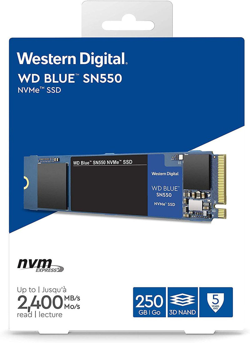 Western Digital Blue SSD - 250GB M.2 NVMe SSD-Storage-Availability_Out of stock, Brand_Western Digital, Capacity_ 250 GB, Type_M.2 NVMe SSD-Gear Here