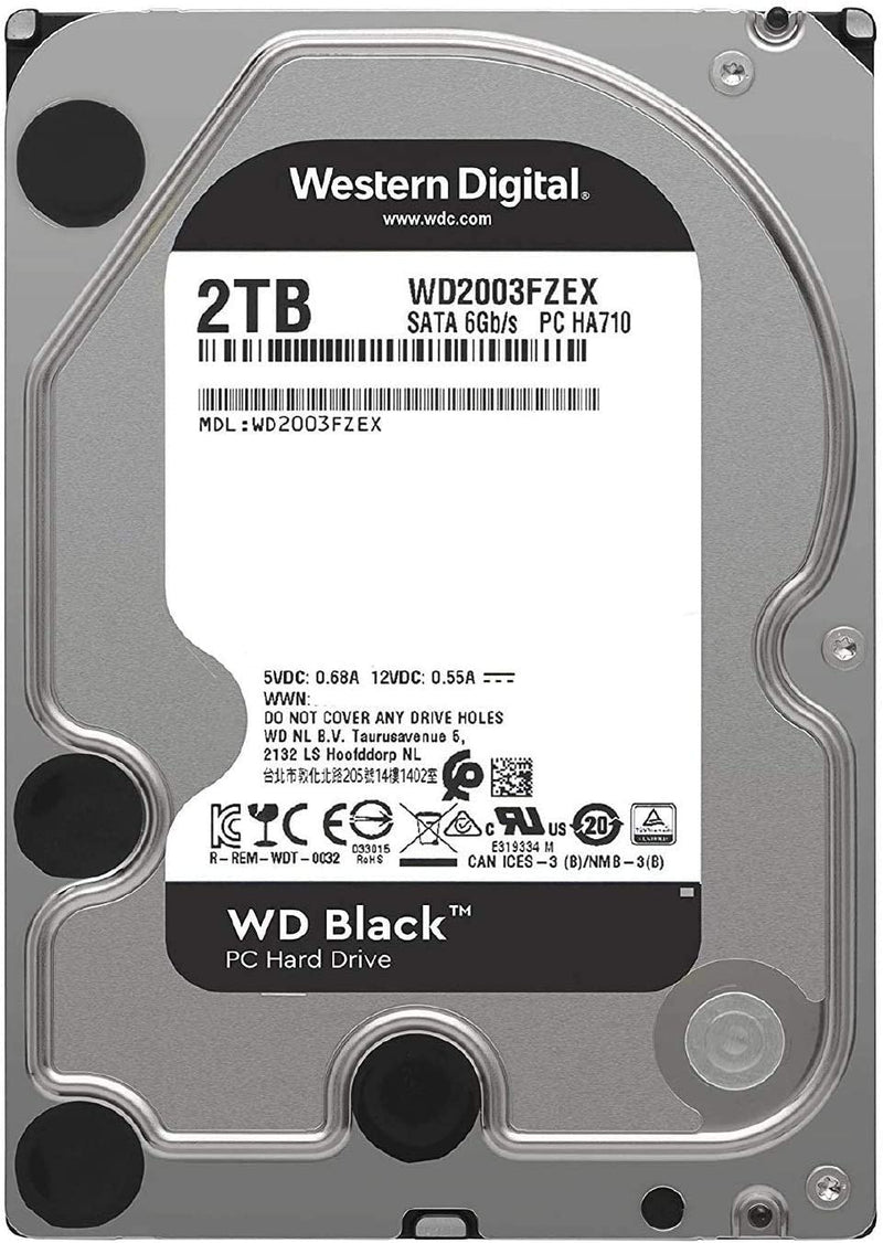 WESTERN DIGITAL BLACK 2TB HDD-Storage-Availability_Out of stock, Brand_Western Digital, Capacity_2 TB, Type_HDD-Gear Here