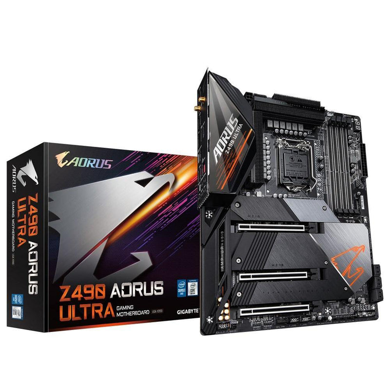 Gigabyte Z490 AORUS ULTRA-Motherboard-Availability_Out of stock, Brand_Gigabyte, Intel, Intel LGA 1200, Motherboard, Platform_INTEL, Series_Z490, Socket_LGA 1200-Gear Here