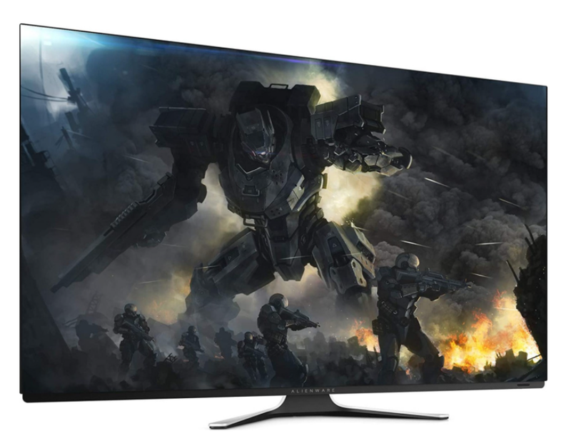 "DELL ALIENWARE 55 AW5520QF 138.78 cm (55"") OLED GAMING MONITOR-Monitors-Availability_Out of stock, Brand_Dell, Panel Type_OLED, Refresh rate_120Hz, Resolution_4K, Response time_0.5ms, Size_55"