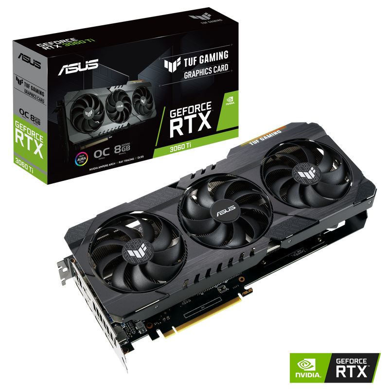 ASUS TUF Gaming GeForce RTX3060 Ti OC Edition 8GB GDDR6 Graphics Card-Graphics Cards-Availability_Out of stock, Supplier3-Gear Here