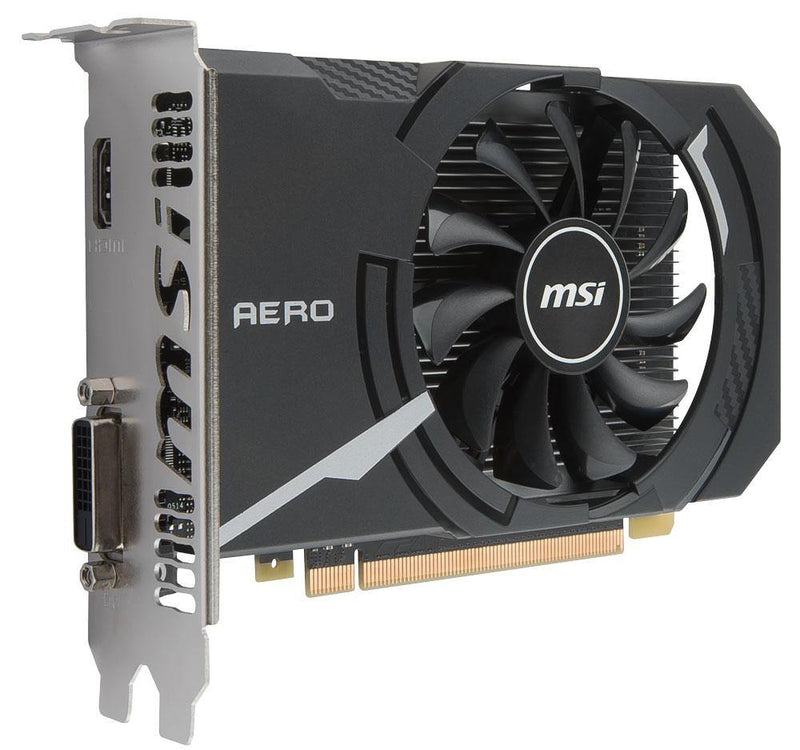 MSI GeForce GT 1030 AERO ITX 2G OC Graphics Card-Graphics Cards-Availability_Out of stock, Brand_MSI, Platform_Nvidia, Series_GT 1030-Gear Here