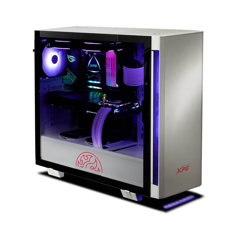 XPG INVADER ARGB + controller Mid-tower Gaming Case White/Black-PC Cases-Availability_In Stock, Brand_XPG, Form Factor_Mid Tower-Gear Here