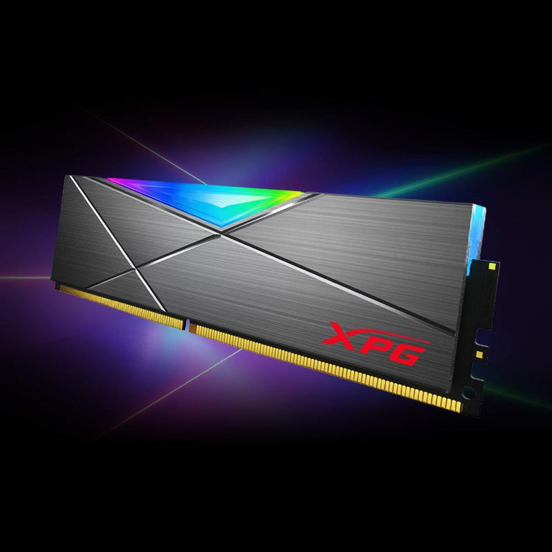 XPG SPECTRIX D50 (2X8GB) 16GB 3200MHz DDR4 RGB MEMORY MODULE-Memory-Availability_In Stock, Brand_XPG, Capacity_16GB, Frequency_3200MHz, RGB_YES, Supplier3-Gear Here
