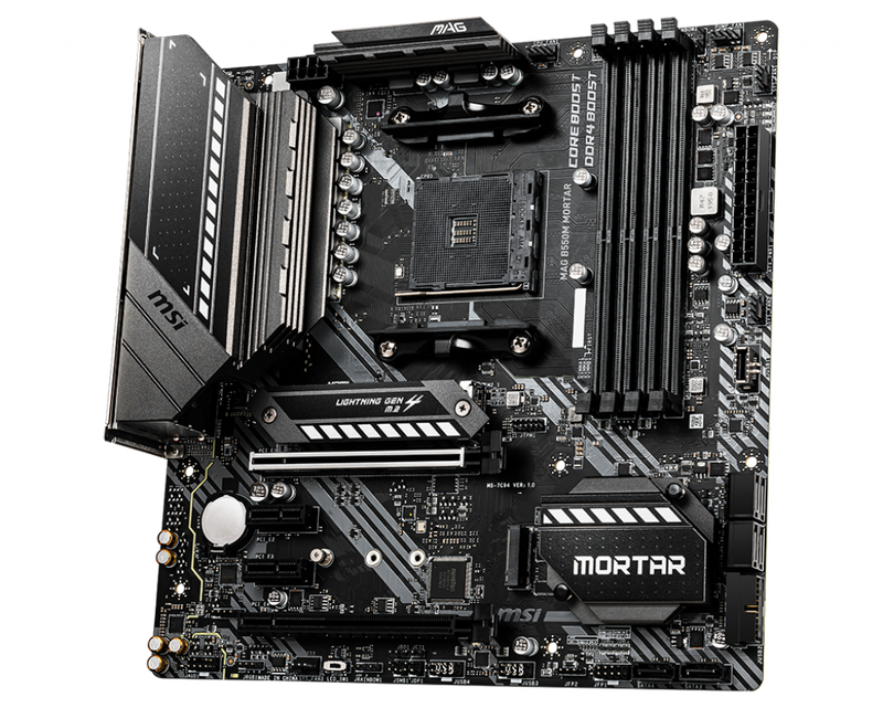 MSI MAG B550M Mortar-Motherboard-AM4, AMD, Availability_In Stock, Brand_MSI, Motherboard, Platform_AMD, Series_B550, Socket_AM4, Supplier1-Gear Here