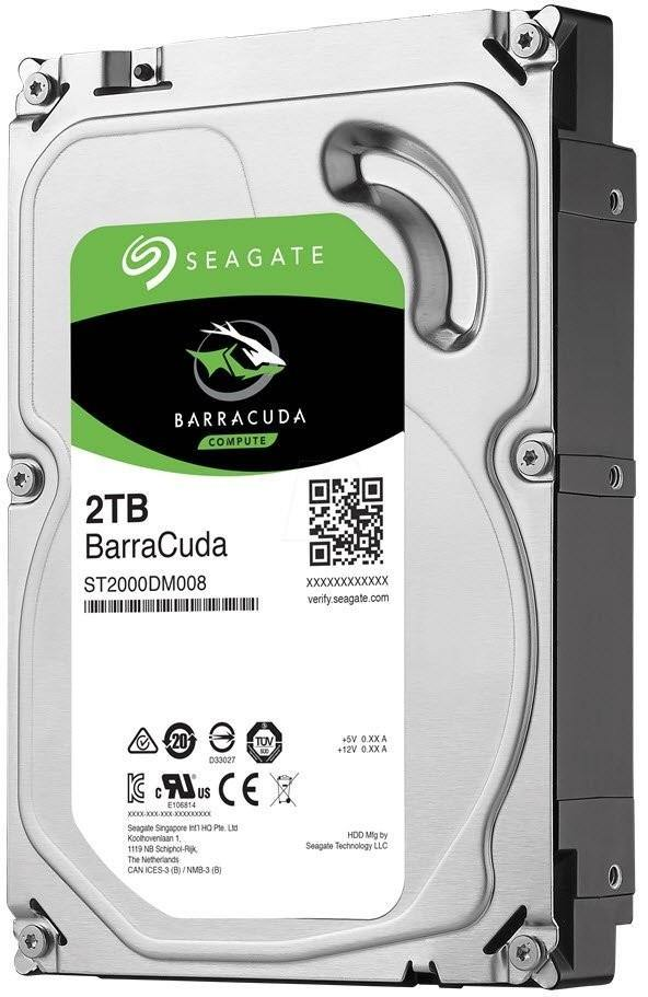 "Seagate ST2000DM008 Barracuda 2TB 7200RPM SATA 6Gb/s 256MB Cache 3.5"" Internal Hard Drive-Hard Drives-Availability_In Stock, Brand_Barracuda, Capacity_2 TB, Type_HDD-Gear Here"