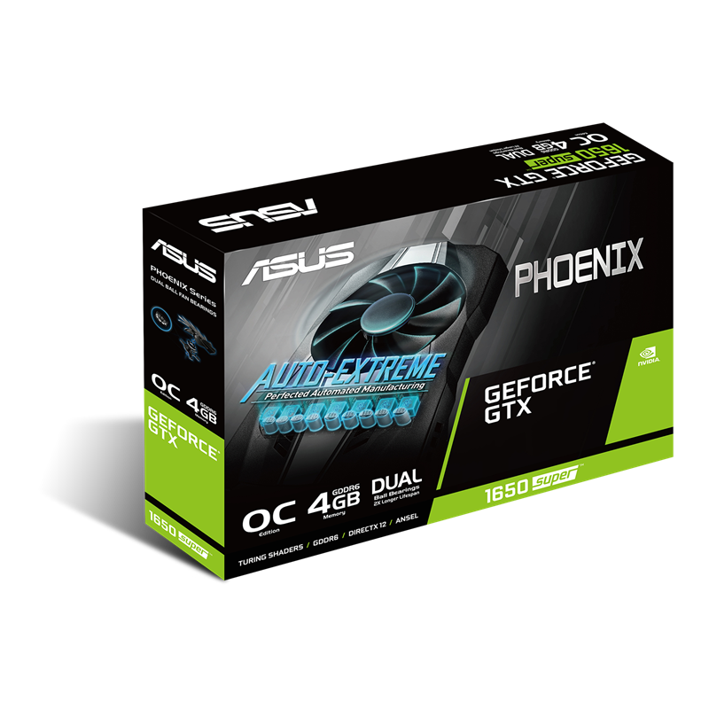 ASUS Phoenix GeForce GTX 1650 Super 4GB GDDR5 Graphics Card-Graphics Cards-Availability_In Stock, Brand_ASUS, Platform_Nvidia, PROCESSOR_GTX 1650, Series_GTX 1600-Gear Here