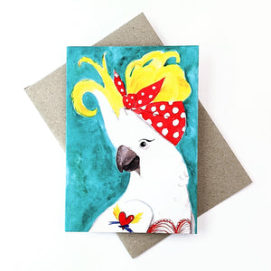 Greeting Card Illustrated Art Birds Assorted