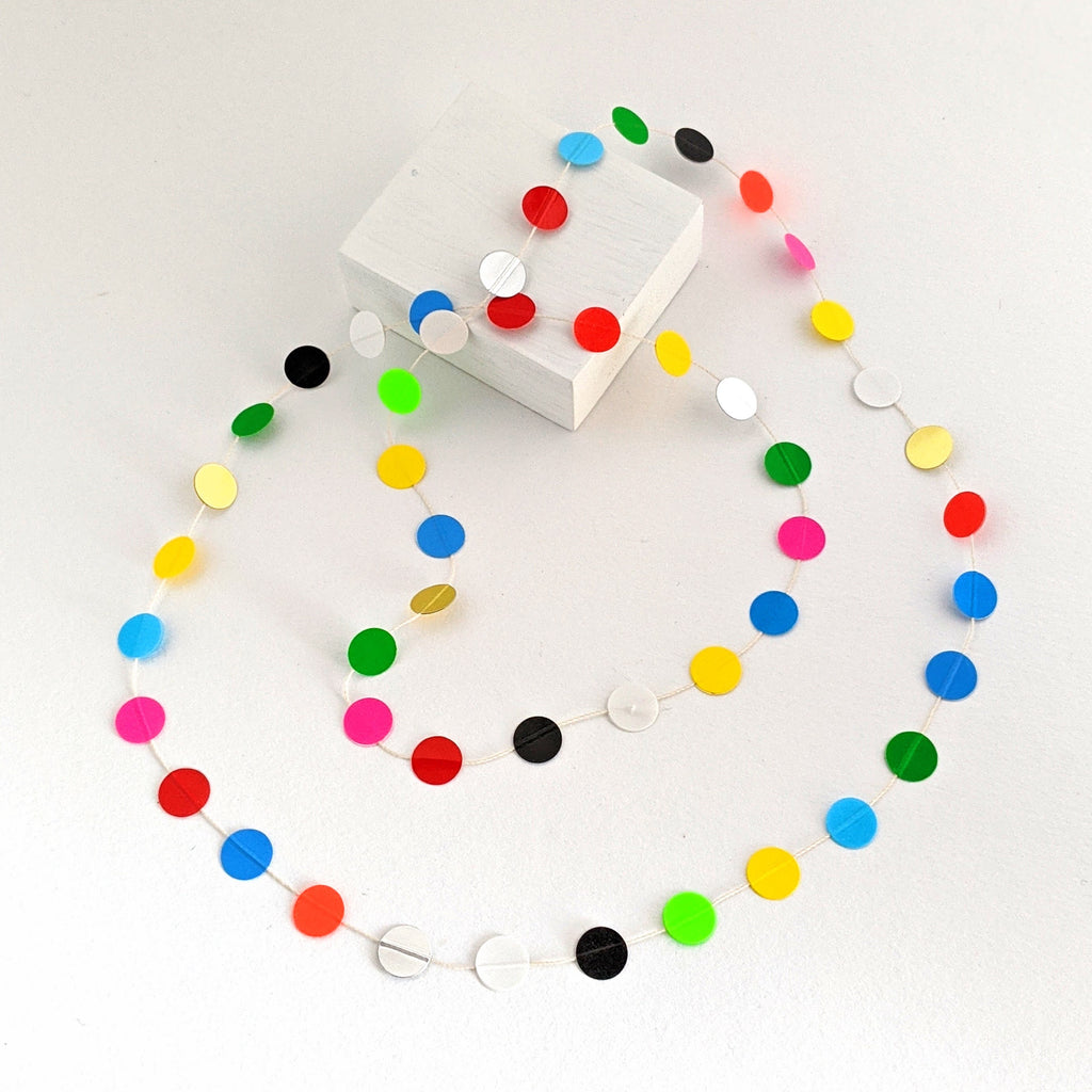 Necklace Paper Pearls Bright Multi