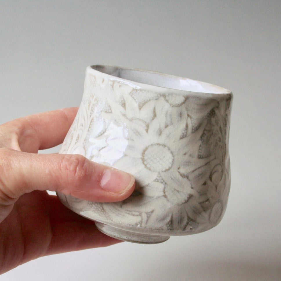 Ceramic Tumbler Flannel Flower