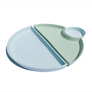Ceramic Bento Set #1 Dual Tone Light Blue Mint