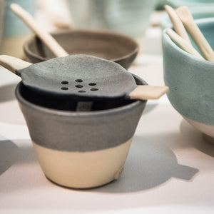 Ceramic Tea Strainer Concrete