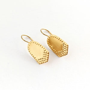 Hook Earrings Insignia Gold Plated Sterling Silver