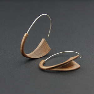 Hook Earrings Suki Acrylic Sterling Silver