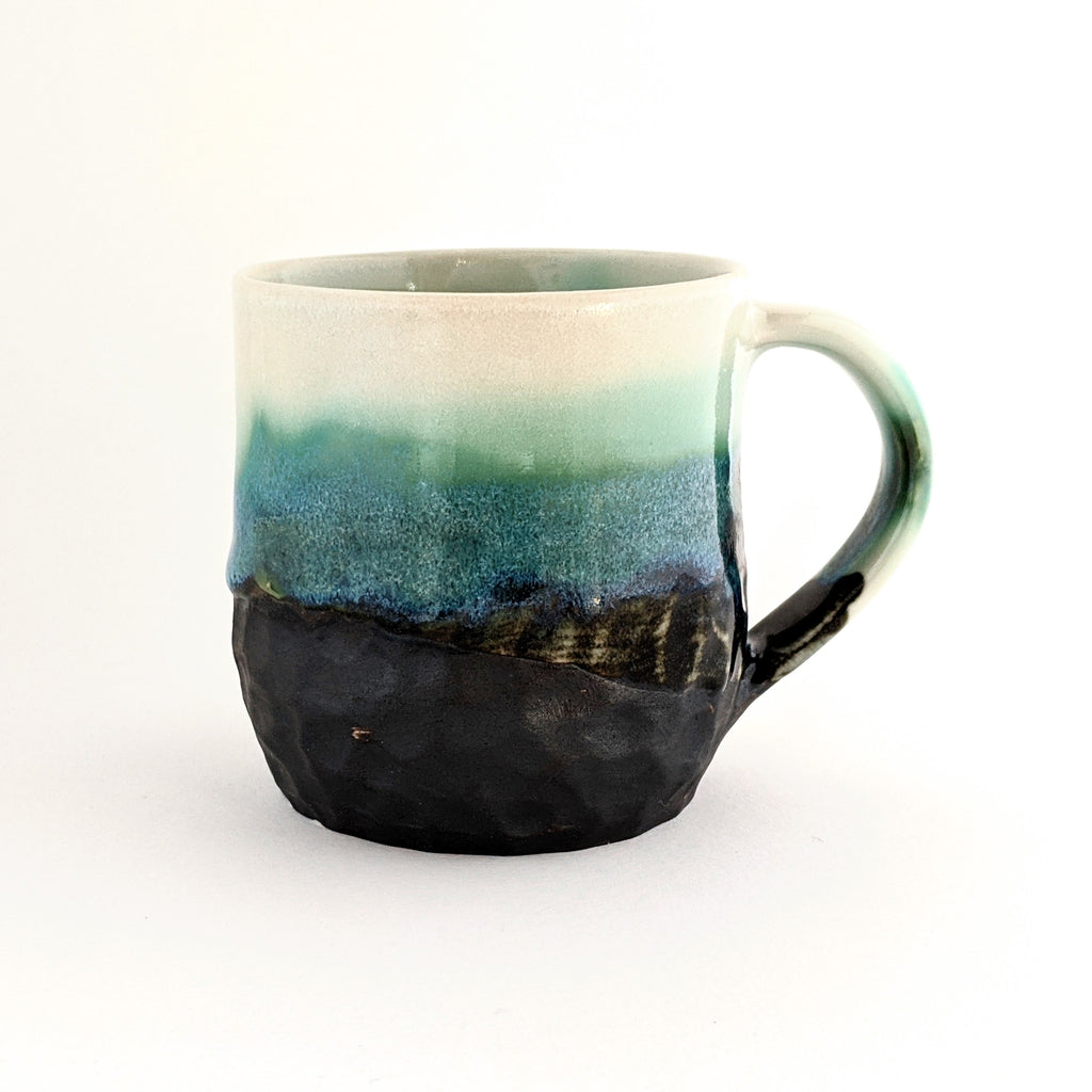 Ceramic Mug With Handle Rocky Shoreline