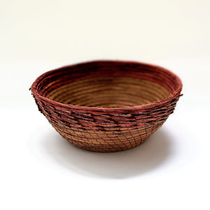 Basket Woven #11 Pine Needles Natural And Dyed