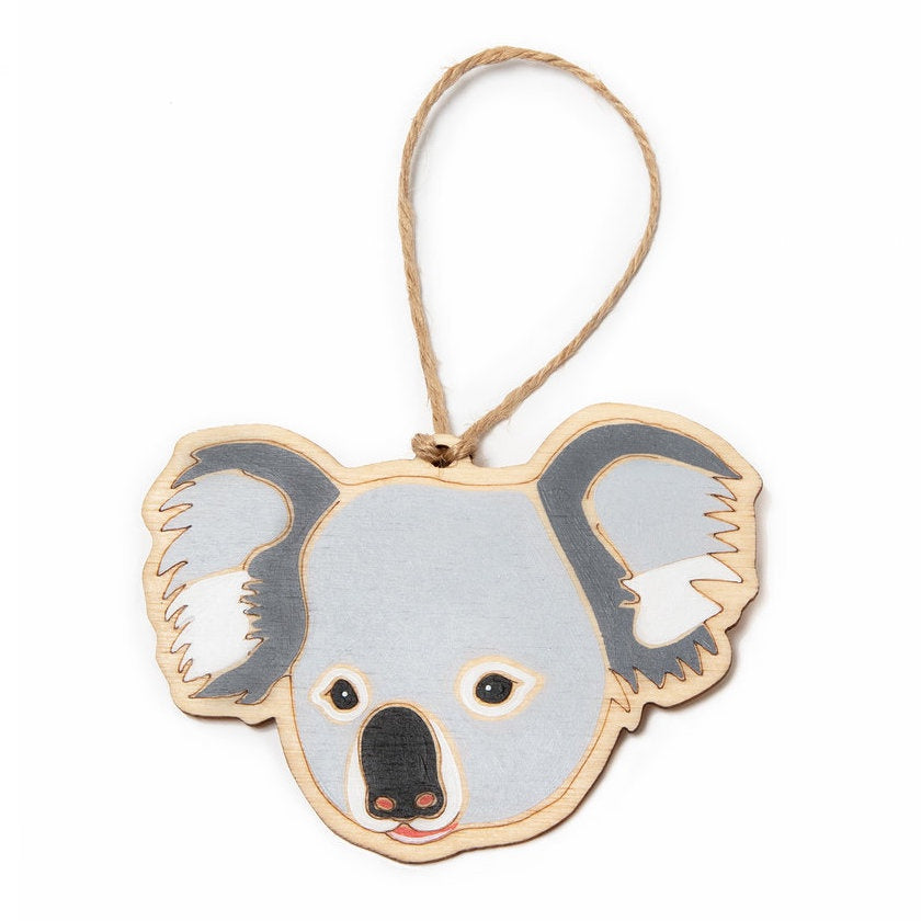Hanging Plywood Ornament Koala