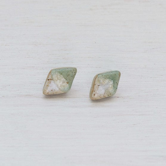 Stud Earrings Ceramic Diamond